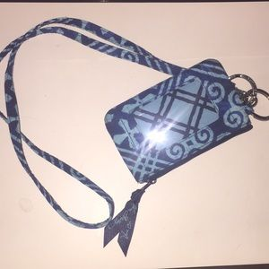 BRAND NEW VERA BRADLEY LANYARD AND ID WALLET